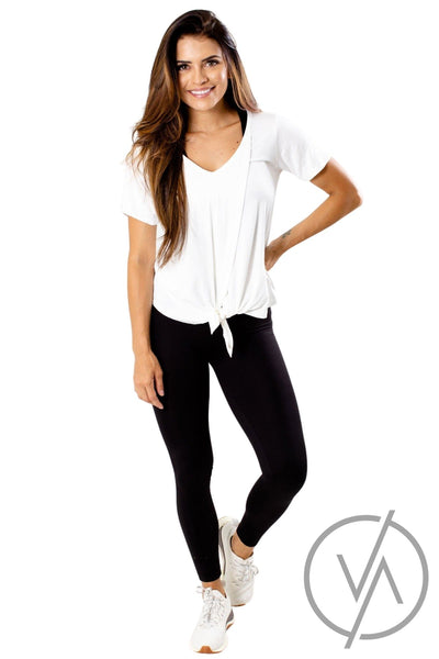 Knot Front V-Neck Tee