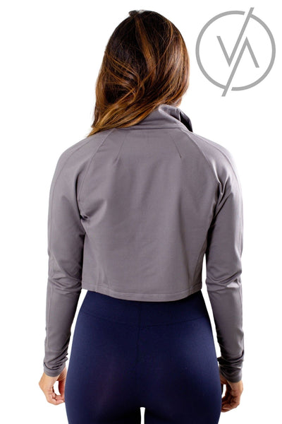 Women's Gray Zip-Up Front Athletic Jacket