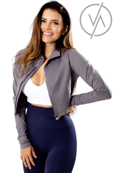 Women's Gray Cute and Comfortable Athletic Jacket