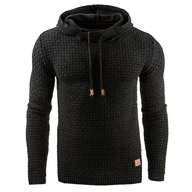 Casual  Plaid Jacquard Military Long Sleeve SweatShirt Hoodies