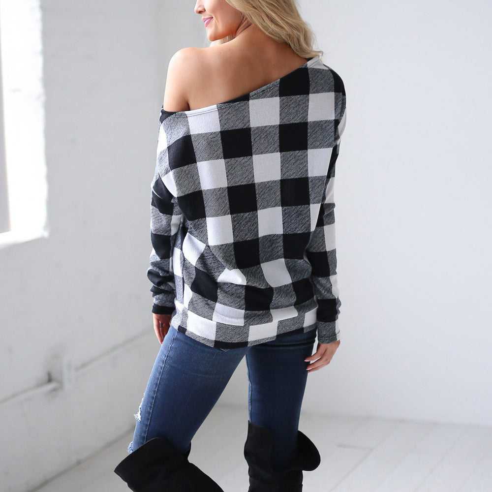 Women Cold Shoulder Long Sleeve Sweatshirt Tops