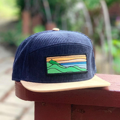 Corduroy Camper (Navy/Tan) with Ridgecrest Patch