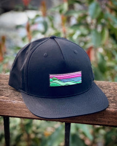 Flat-Brim Snapback (Black) with Ridgecrest Patch