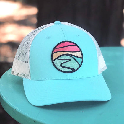 Curved-Brim Trucker (Seafoam/Cream) with Hilltop Patch