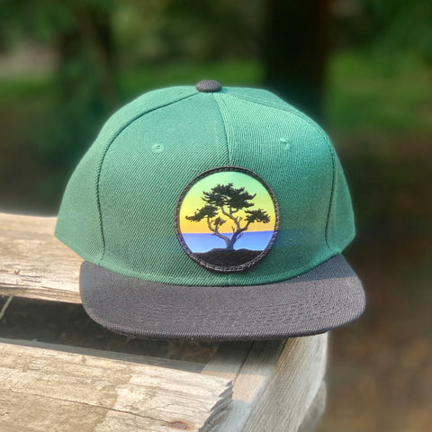 Kids' Snapback (Green/Black) with Cypress Patch
