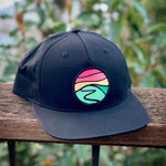 Flat-Brim Snapback (Black) with Hilltop Patch