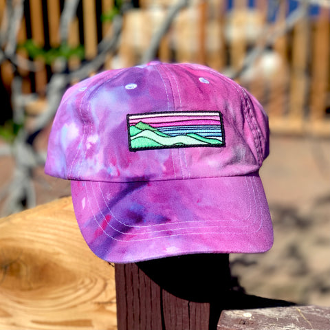 Ice Dye Hat by Space Dirt Dyes (Pink Splash) with Ridgecrest patch