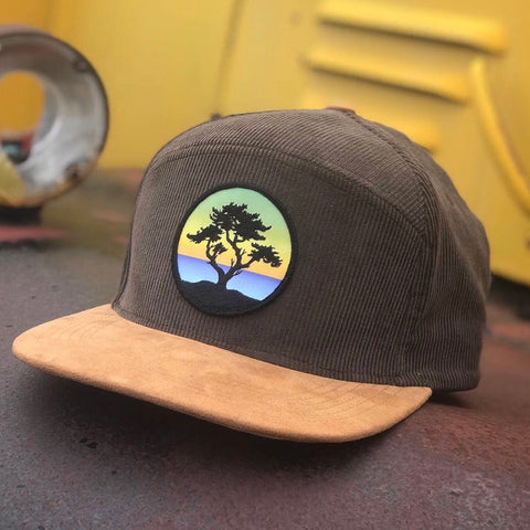 [PRE-ORDER] Corduroy Snapback Camper (Brown/Tan) with Cypress Patch