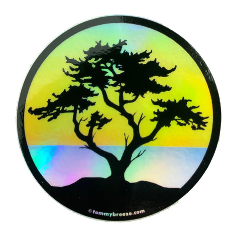 Rainbow Holographic Cypress Sticker