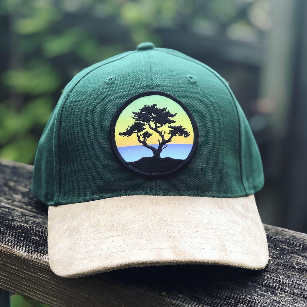 Suede Brim Hat (Green) with Cypress Patch
