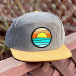 Corduroy Snapback Camper (Brown/Tan) with Serenity Patch