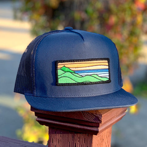 Flat-Brim Trucker (Navy) with Ridgecrest Patch