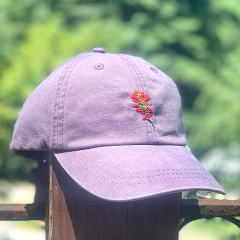 Paintbrush - Hand-Embroidered Hat by Kelsey Ruggaard