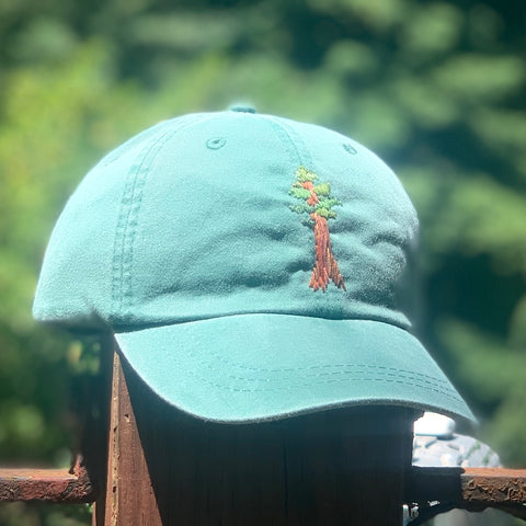 Redwood - Hand-Embroidered Hat by Kelsey Ruggaard