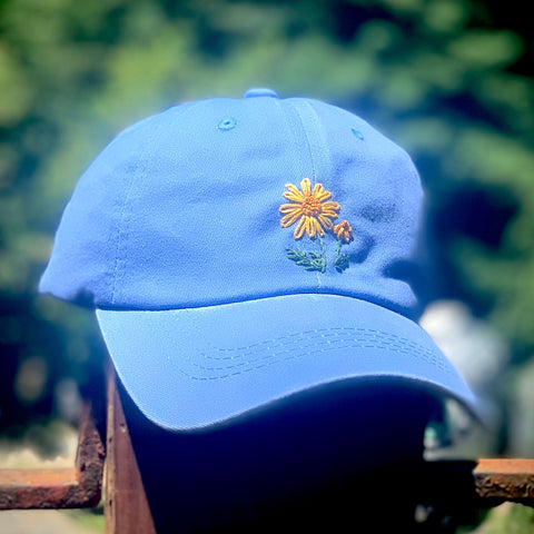 Daisy - Hand-Embroidered Hat by Kelsey Ruggaard