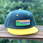 Flat-Brim Snapback (Forest/Gold) with XL Ridgecrest Patch