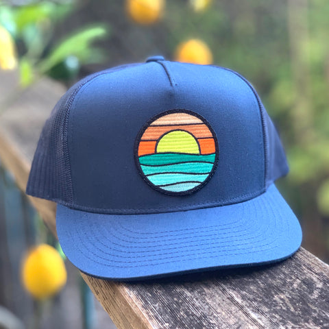 Flat-Brim Trucker (Navy) with Serenity Patch