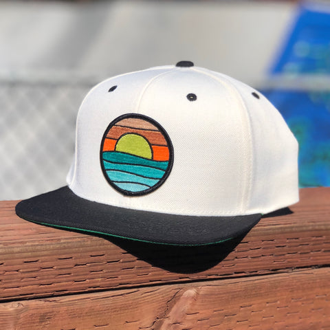 Flat-Brim Snapback (Cream/Black) with Serenity Patch