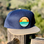 Flat-Brim Snapback (Navy/Tan) with Serenity Patch