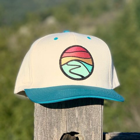 Canvas Hiker (Cream/Teal) with Hilltop Patch