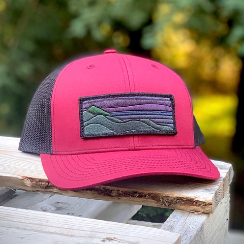 Blackout Trucker (Maroon/Black) with XL Ridgecrest Patch