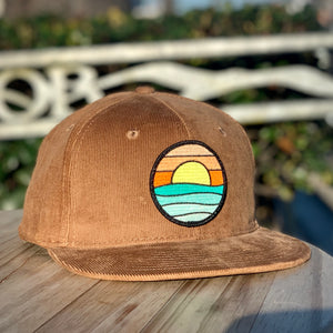 Corduroy Snapback (Brown) with Serenity Patch