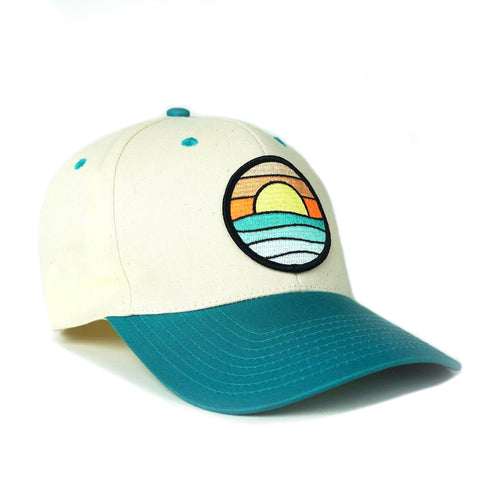 Classic Baseball Hat (Cream/Teal) with Serenity Patch