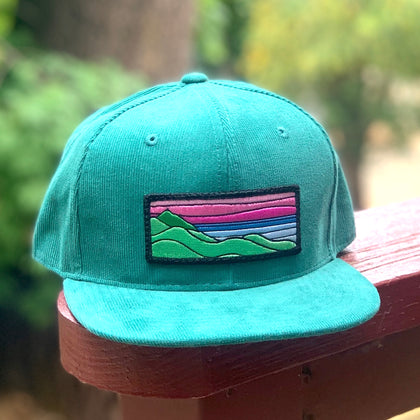 Corduroy Snapback (Teal) with XL Ridgecrest Patch