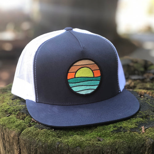 Flat-Brim Trucker (Navy/White) with Serenity Patch
