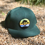 Flat-Brim Snapback (Forest) with Cypress Patch