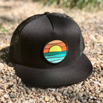 Flat-Brim Trucker (Black) with Serenity Patch