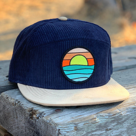 Corduroy Camper (Navy/Tan) with Serenity Patch