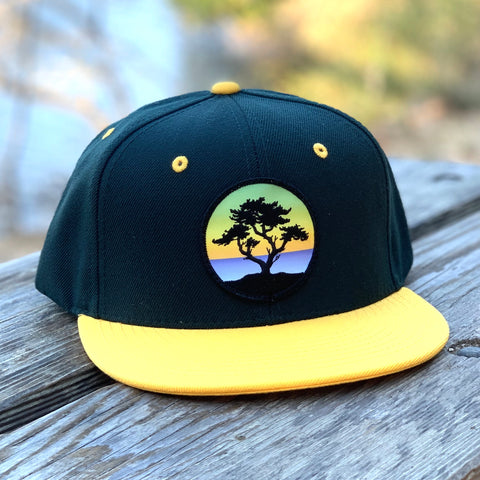 Flat-Brim Snapback (Forest/Yellow) with Cypress Patch