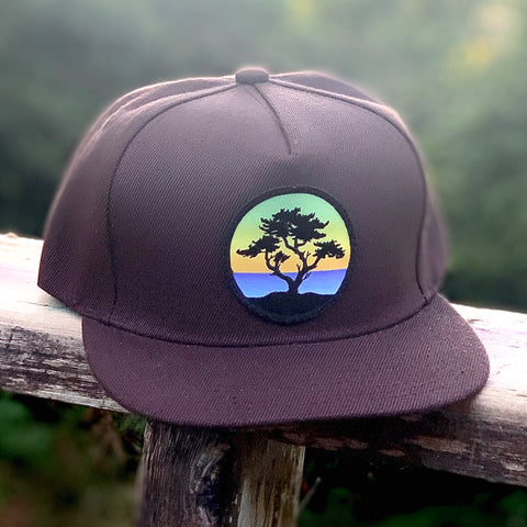 Flat-Brim Snapback (Brown) with Cypress Patch