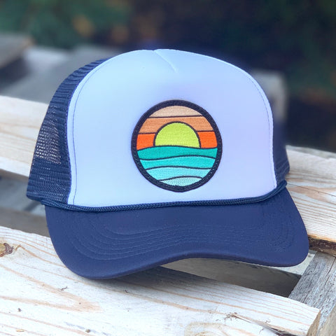 Foam-Front Trucker (Navy/White) with Serenity Patch