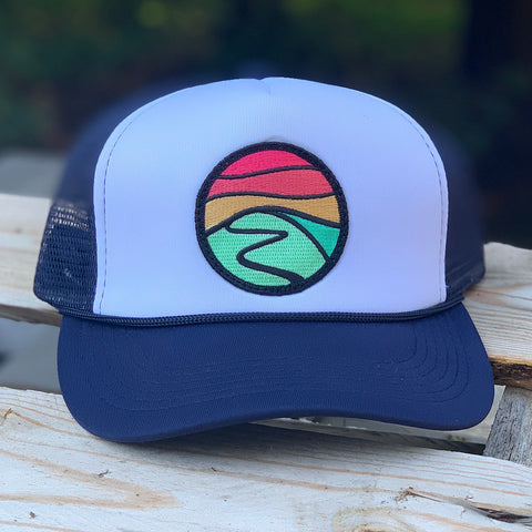 Foam-Front Trucker (Navy/White) with Hilltop Patch