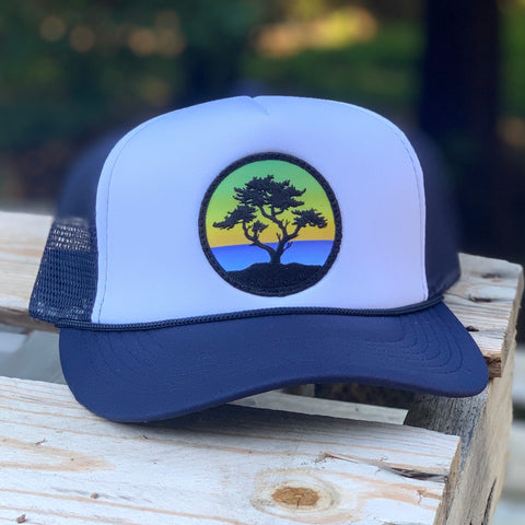 Foam-Front Trucker (Navy/White) with Cypress Patch
