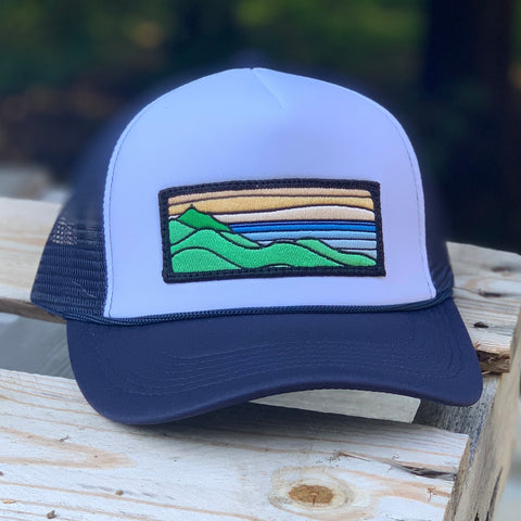 Foam-Front Trucker (Navy/White) with XL Ridgecrest Patch