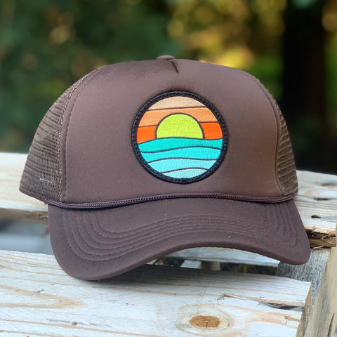 Foam-Front Trucker (Brown) with Serenity Patch