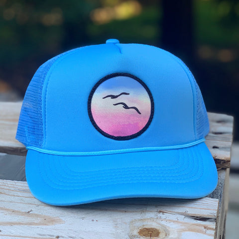 Foam-Front Trucker (Sky) with Birds Patch
