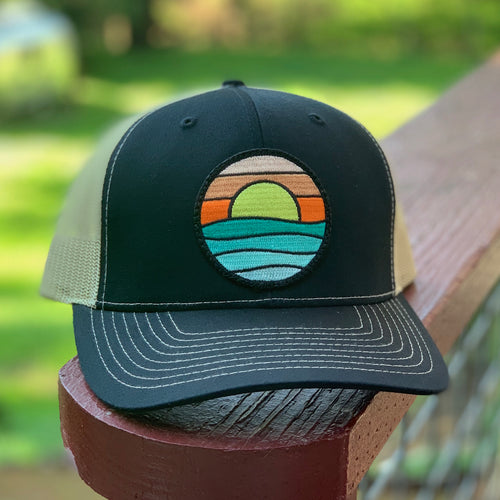 Curved-Brim Trucker (Black/Gold) with Serenity Patch