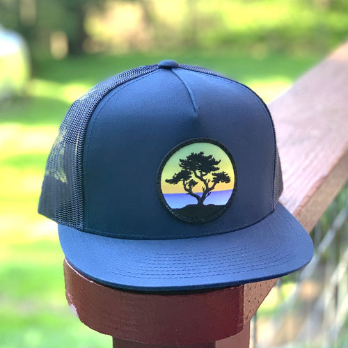 Flat-Brim Trucker (Navy) with Cypress Patch