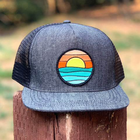 Denim Trucker (Black) with Serenity Patch