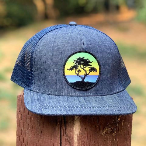 Denim Trucker (Navy) with Cypress Patch