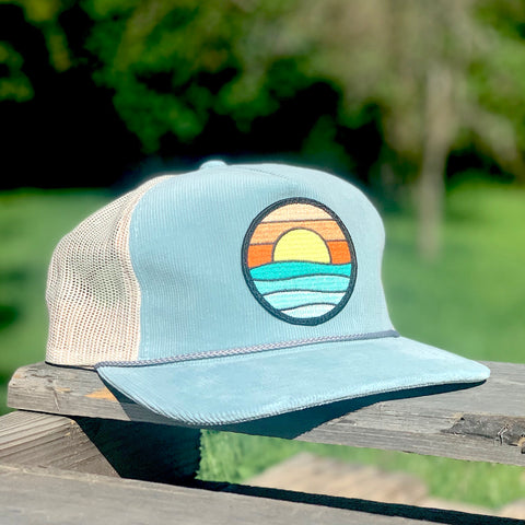 Corduroy Trucker (Sky) with Serenity Patch