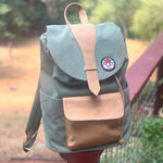 Customized Drawstring Backpack (Moss/Tan)