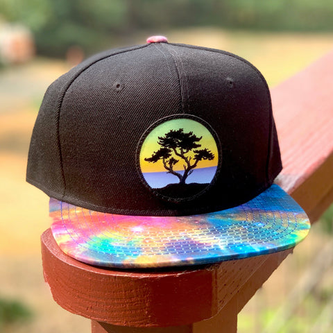 Special Edition Flat-Brim Snapback (Black/Rainbow) with Cypress Patch