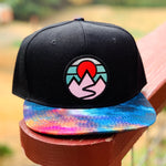Special Edition Flat-Brim Snapback (Black/Rainbow) with Mountains Patch