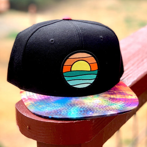 Special Edition Flat-Brim Snapback (Black/Rainbow) with Serenity Patch