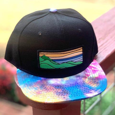 Special Edition Flat-Brim Snapback (Black/Rainbow) with XL Ridgecrest Patch